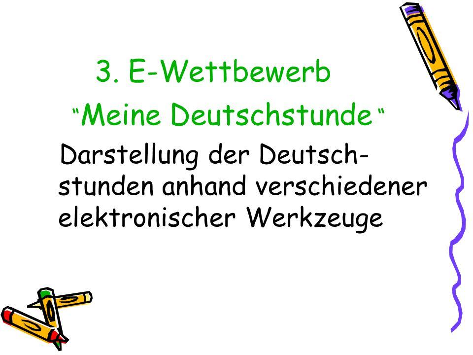 3. E-Wettbewerb Meine Deutschstunde