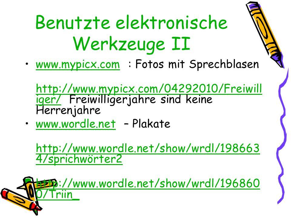 Benutzte elektronische Werkzeuge II