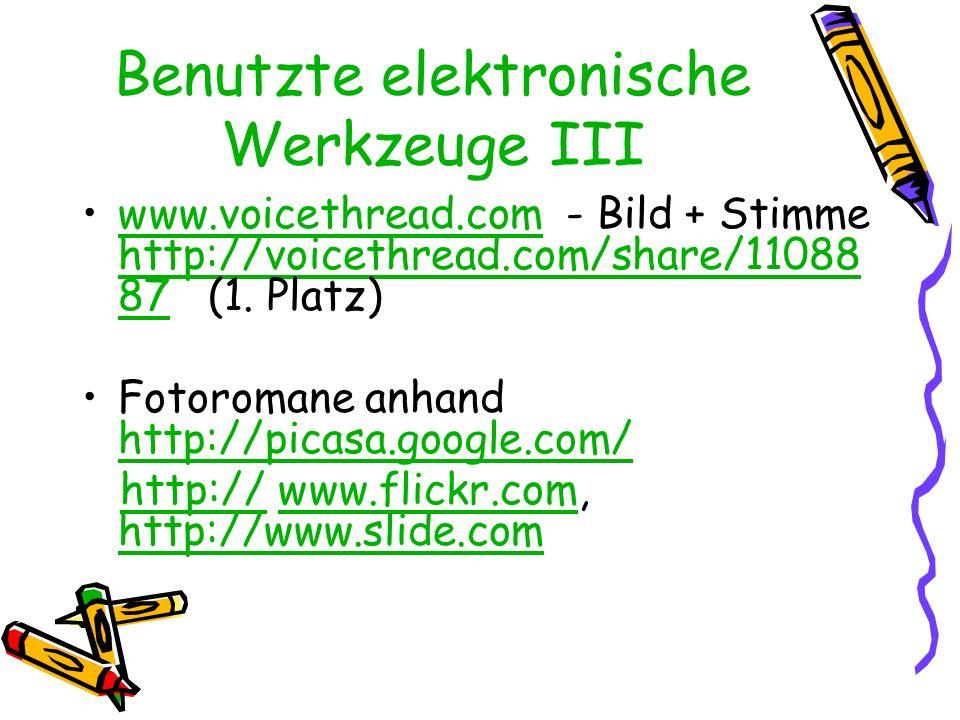 Benutzte elektronische Werkzeuge III
