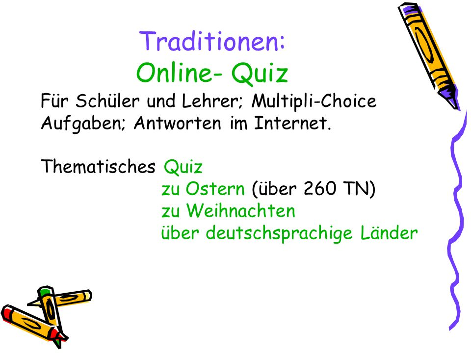 Traditionen: Online- Quiz