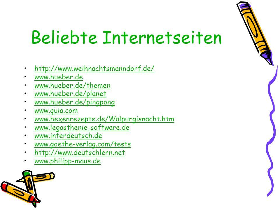 Beliebte Internetseiten