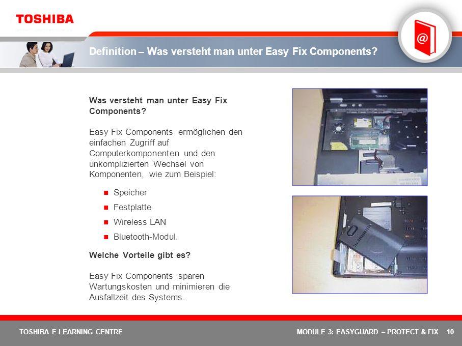 Definition – Was versteht man unter Easy Fix Components
