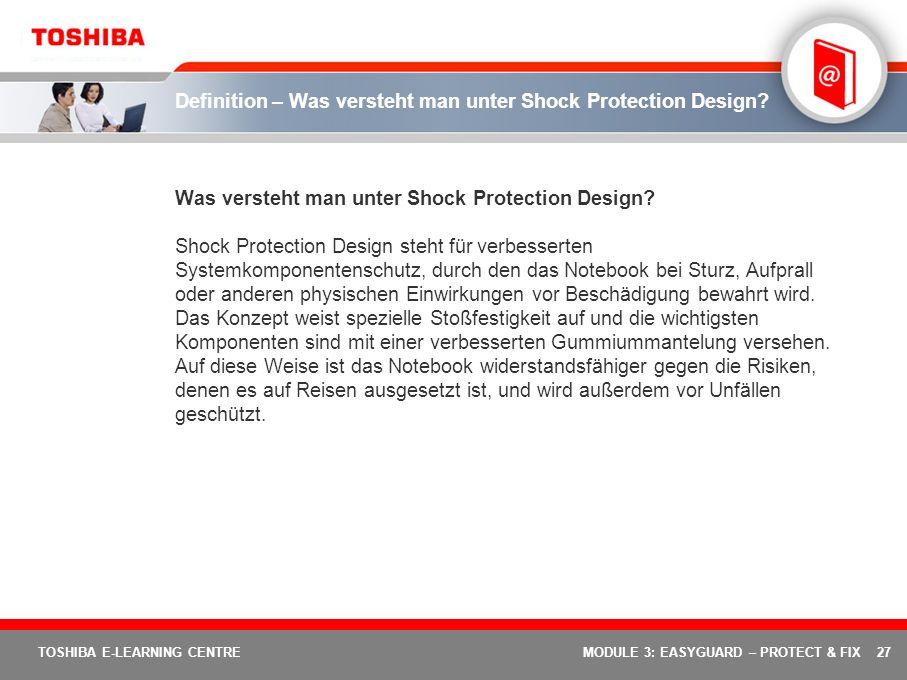 Definition – Was versteht man unter Shock Protection Design