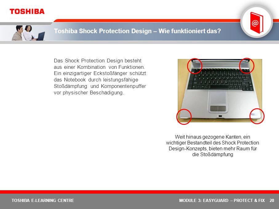 Toshiba Shock Protection Design – Wie funktioniert das