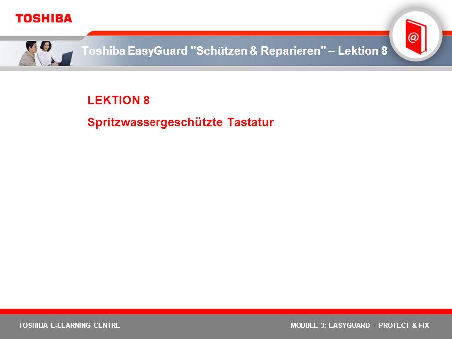 Toshiba EasyGuard Schützen & Reparieren – Lektion 8