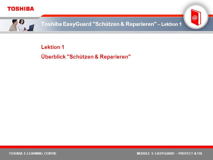Toshiba EasyGuard Schützen & Reparieren – Lektion 1