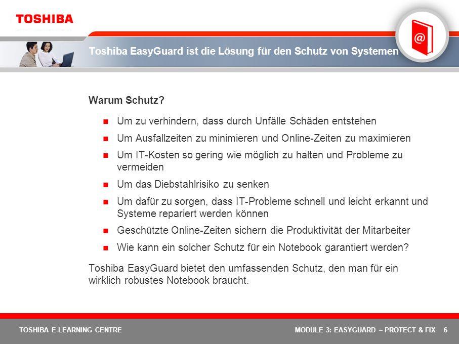 Toshiba EasyGuard ist die Lösung für den Schutz von Systemen