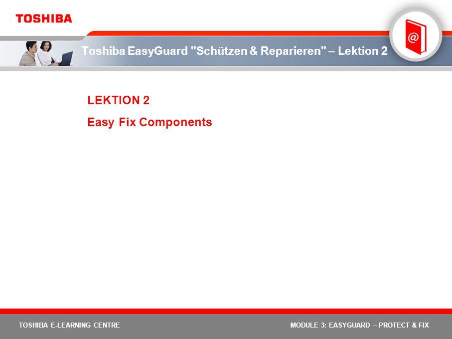 Toshiba EasyGuard Schützen & Reparieren – Lektion 2