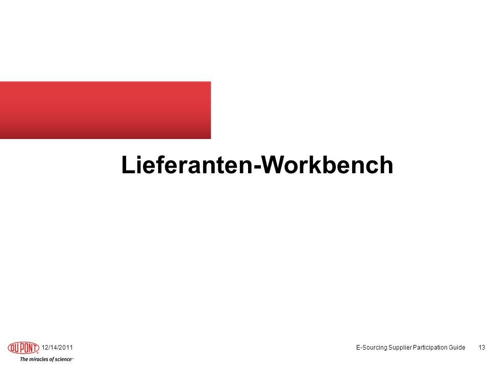 Lieferanten-Workbench