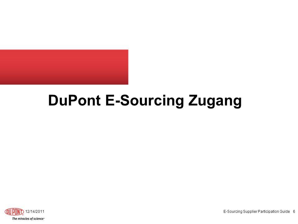 DuPont E-Sourcing Zugang