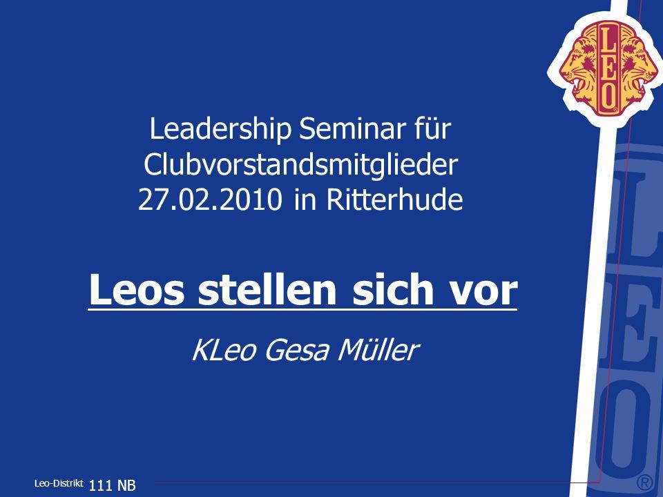 Leadership Seminar für Clubvorstandsmitglieder 27. 02