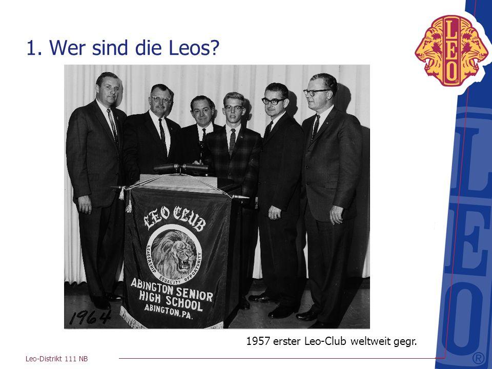 1957 erster Leo-Club weltweit gegr.