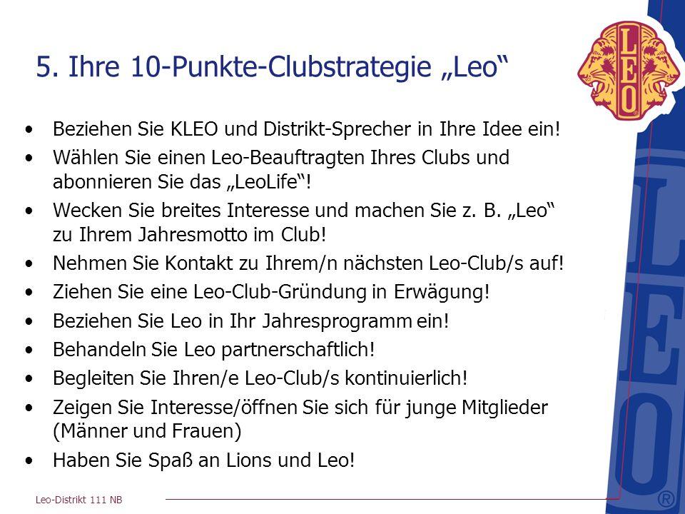 """5. Ihre 10-Punkte-Clubstrategie """"Leo"""
