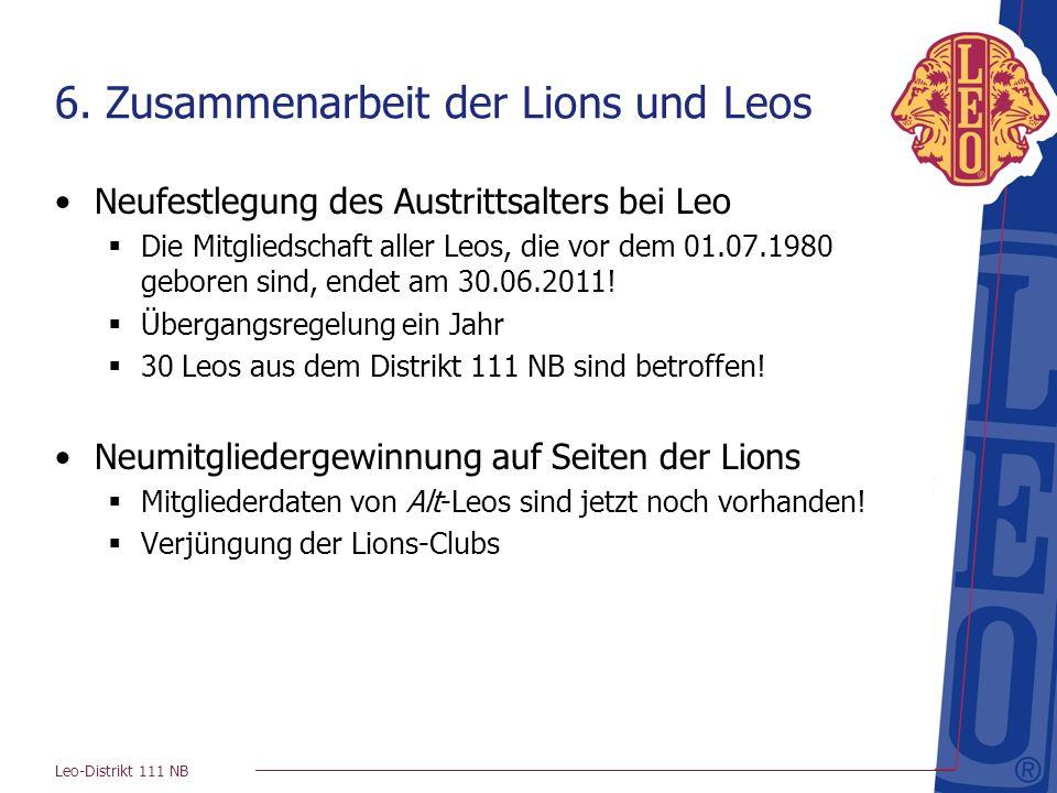 6. Zusammenarbeit der Lions und Leos
