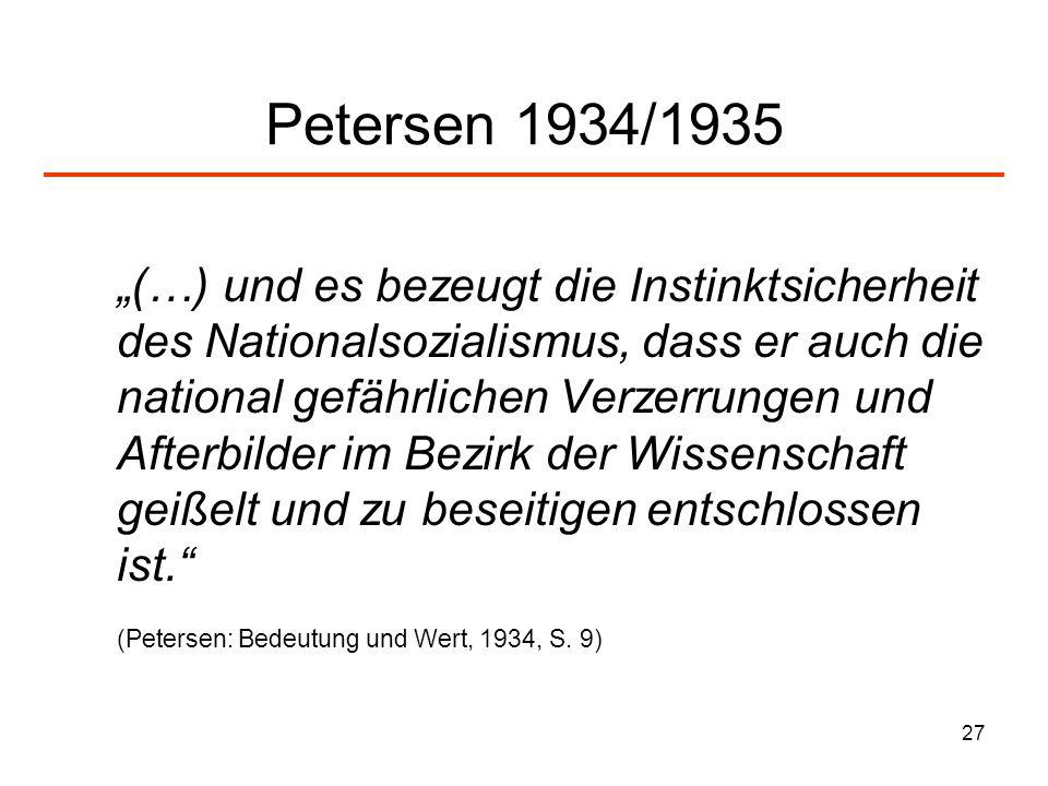 Petersen 1934/1935