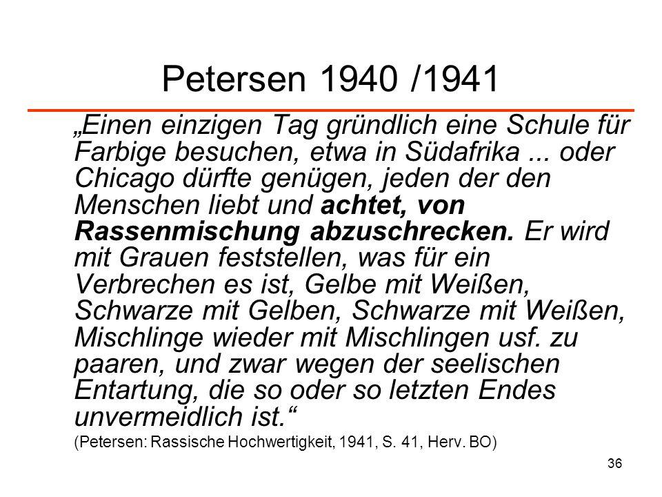 Petersen 1940 /1941