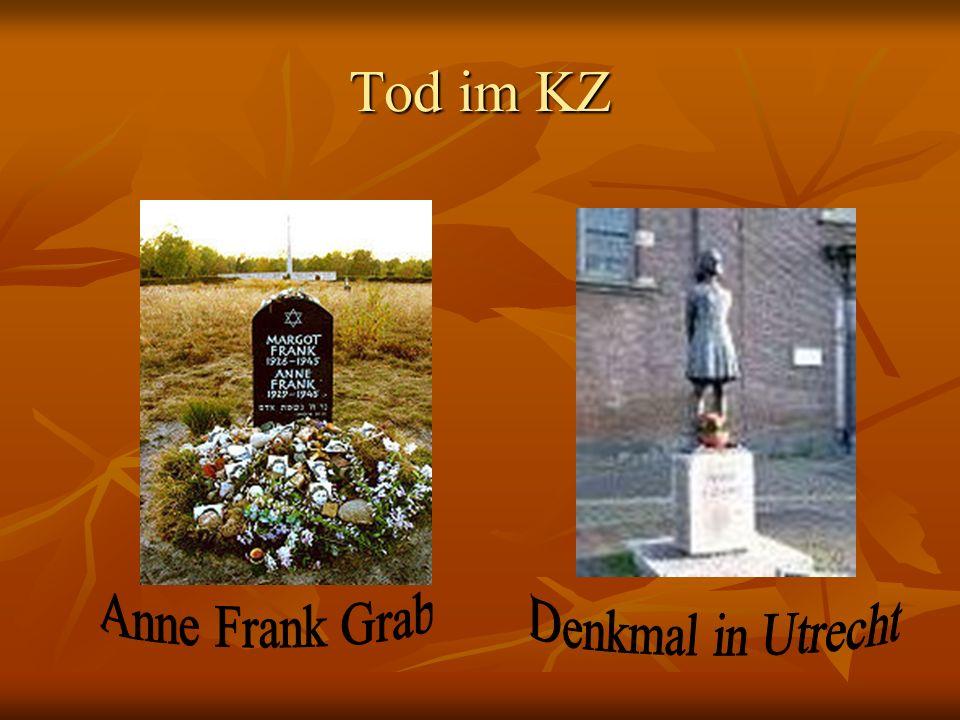 Tod im KZ Anne Frank Grab Denkmal in Utrecht