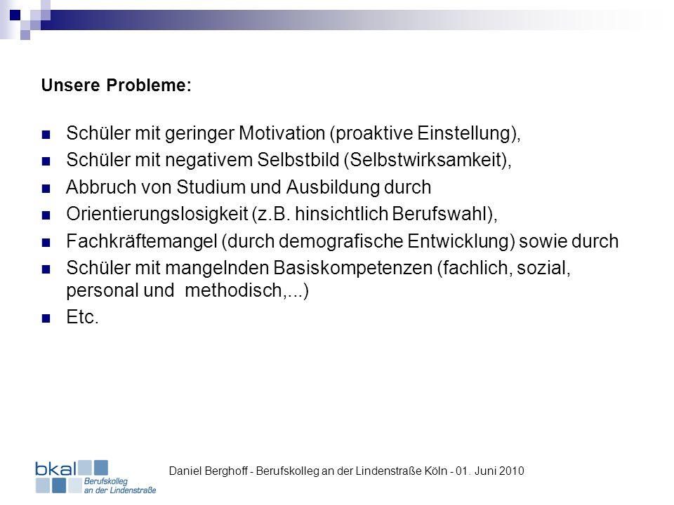 Schüler mit geringer Motivation (proaktive Einstellung),
