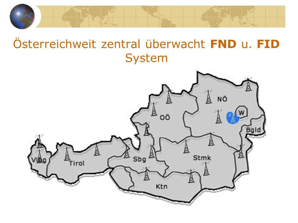 Österreichweit zentral überwacht FND u. FID System