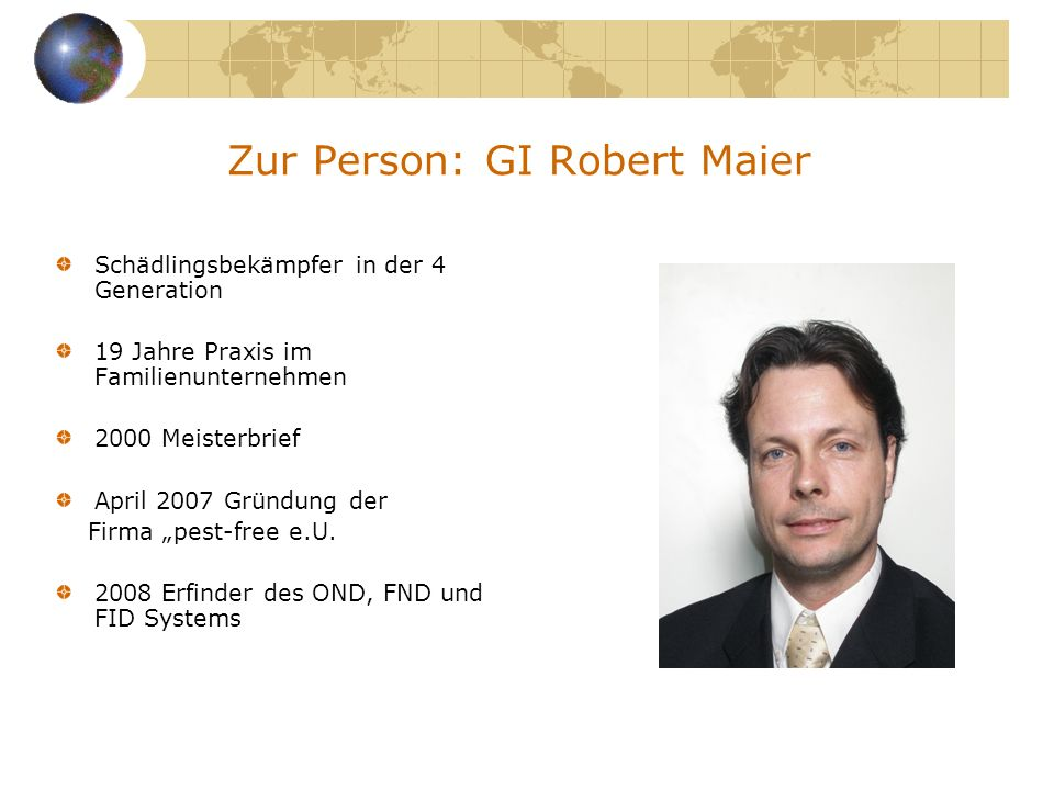 Zur Person: GI Robert Maier