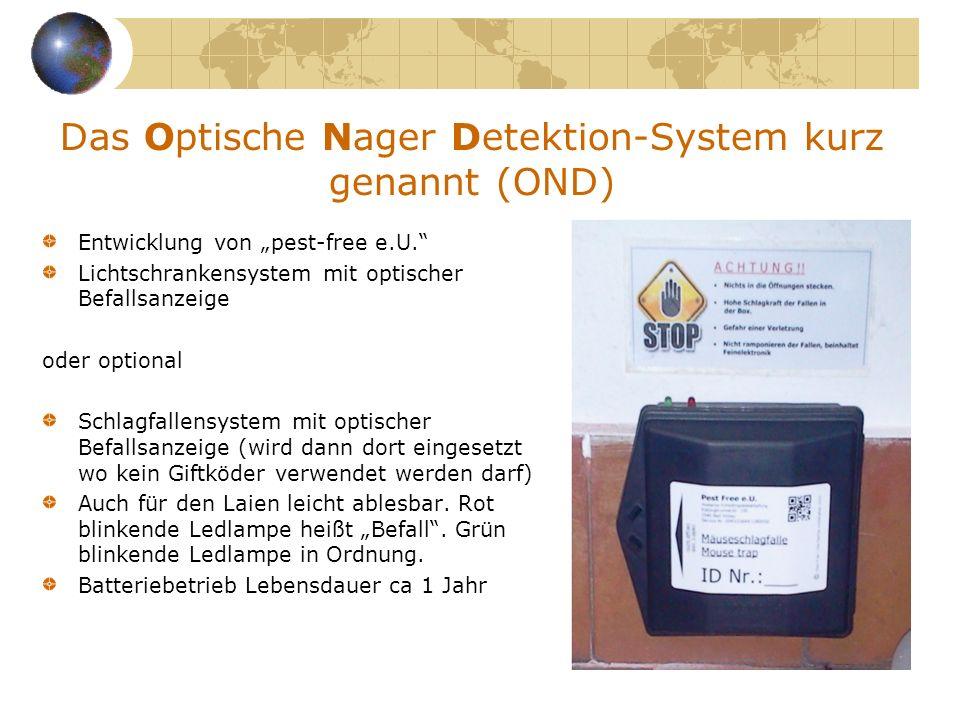 Das Optische Nager Detektion-System kurz genannt (OND)