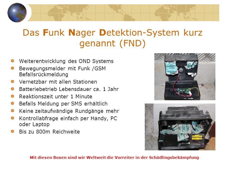 Das Funk Nager Detektion-System kurz genannt (FND)