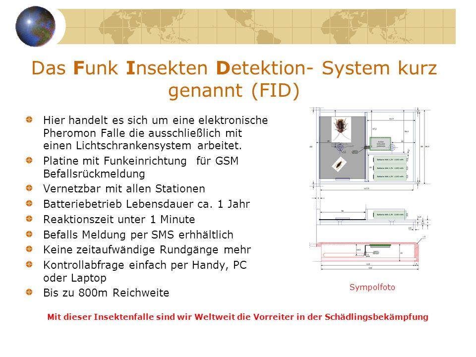 Das Funk Insekten Detektion- System kurz genannt (FID)
