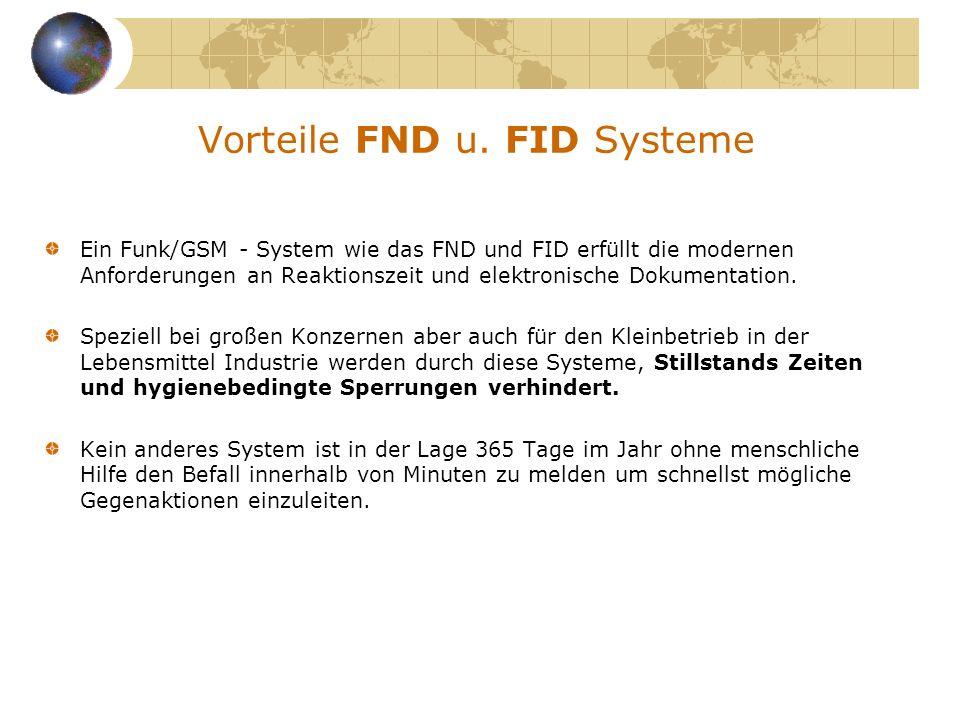 Vorteile FND u. FID Systeme