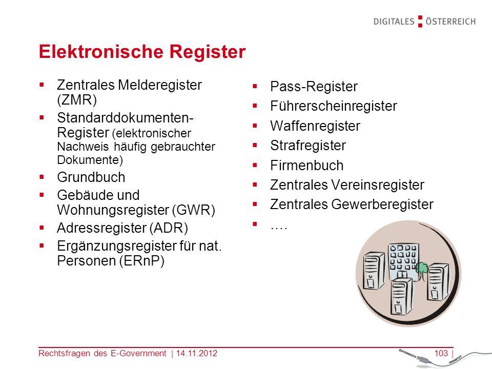 Elektronische Register