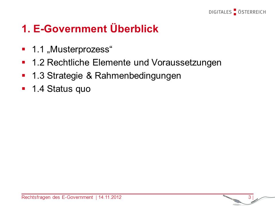 1. E-Government Überblick