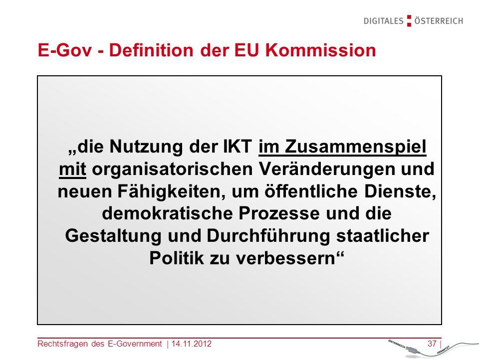 E-Gov - Definition der EU Kommission