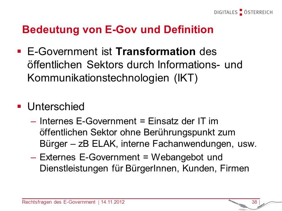Bedeutung von E-Gov und Definition