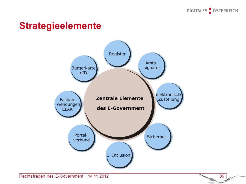 Strategieelemente Rechtsfragen des E-Government | 14.11.2012