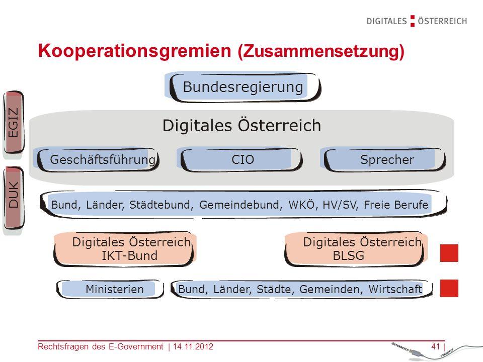 Kooperationsgremien (Zusammensetzung)