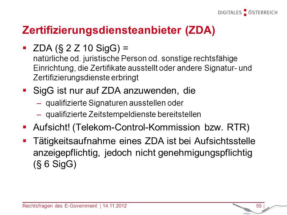 Zertifizierungsdiensteanbieter (ZDA)