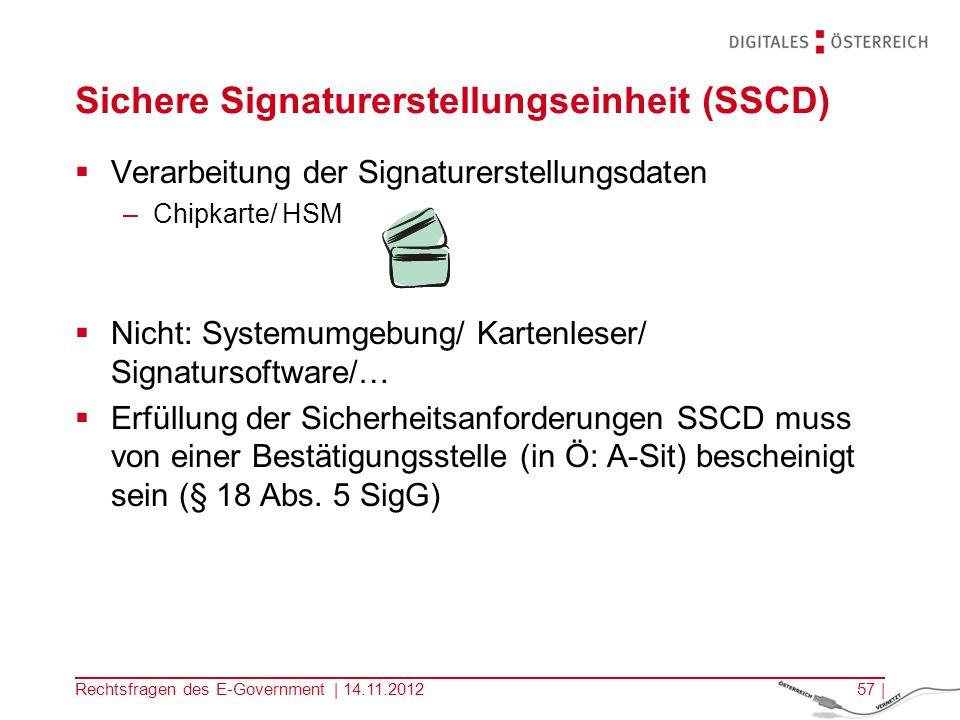 Sichere Signaturerstellungseinheit (SSCD)