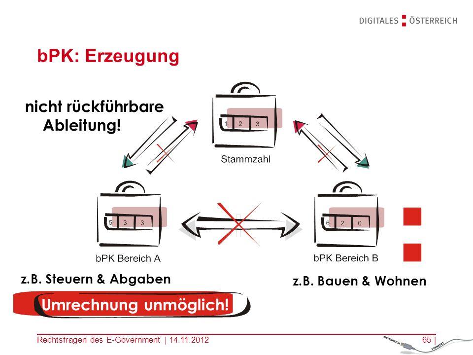 bPK: Erzeugung nicht rückführbare Ableitung! Umrechnung unmöglich!