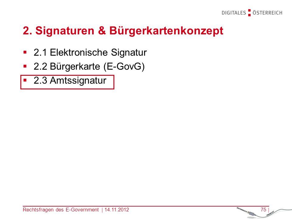 2. Signaturen & Bürgerkartenkonzept
