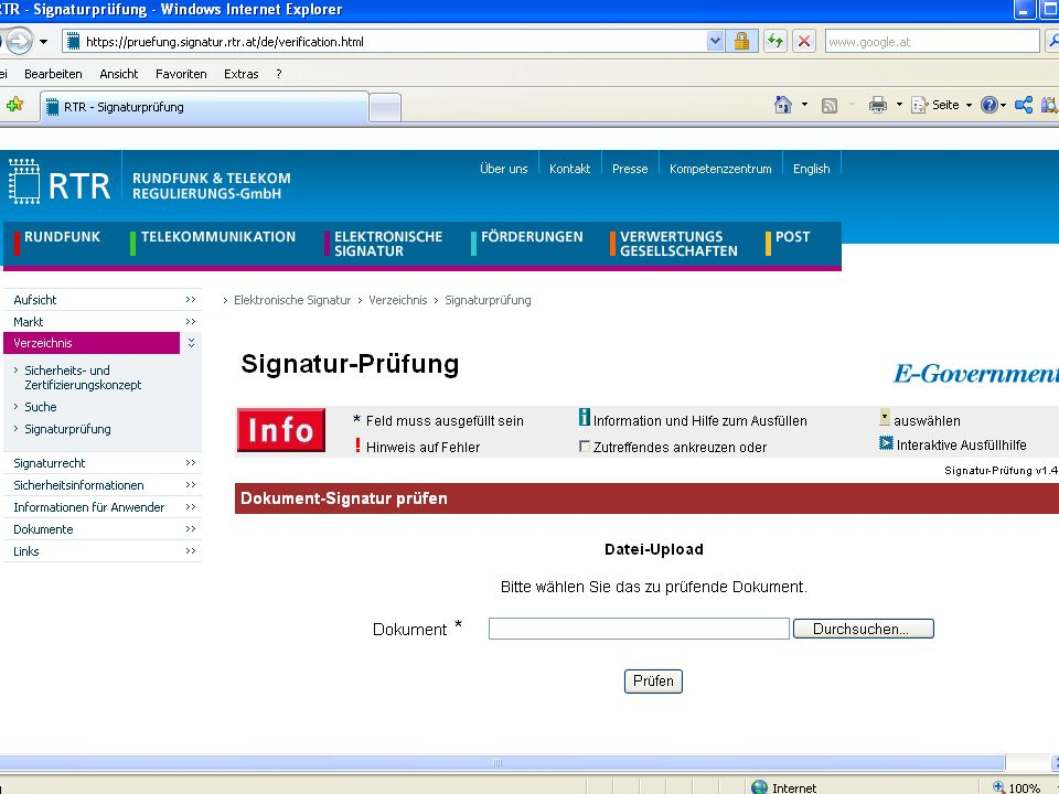 Rechtsfragen des E-Government | 14.11.2012
