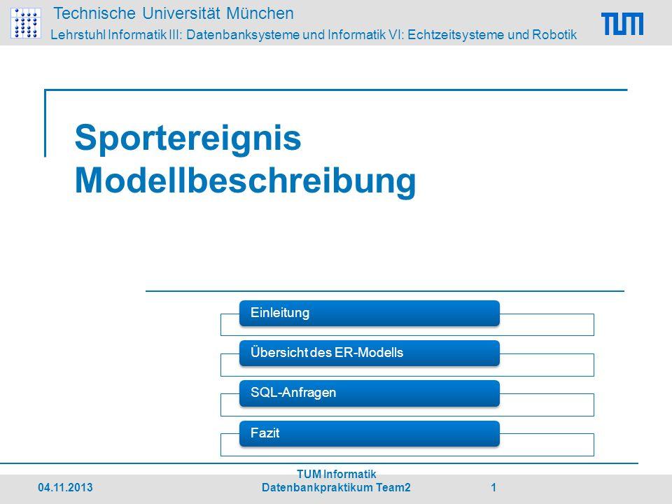 Sportereignis Modellbeschreibung