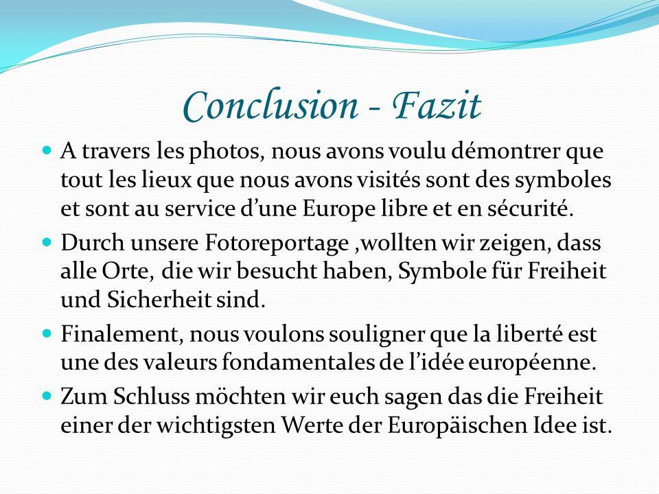 Conclusion - Fazit