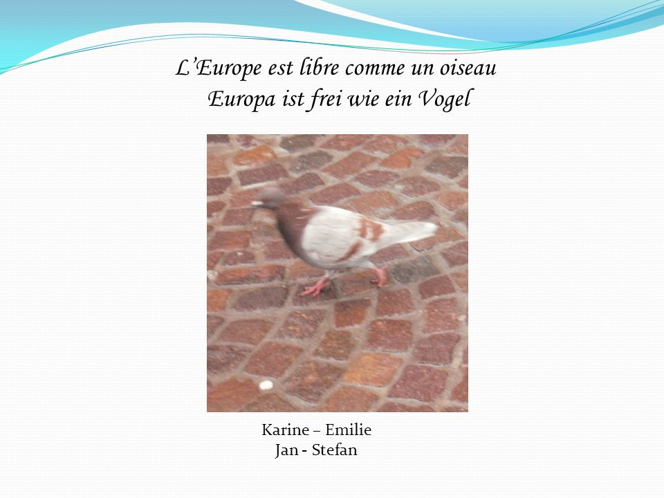 L'Europe est libre comme un oiseau Europa ist frei wie ein Vogel