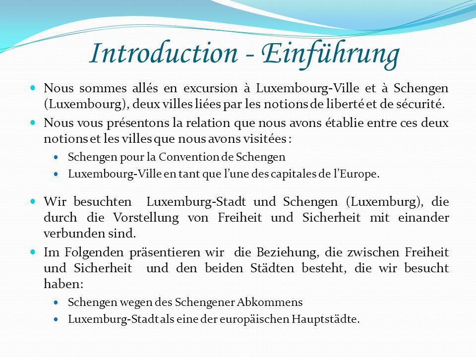 Introduction - Einführung