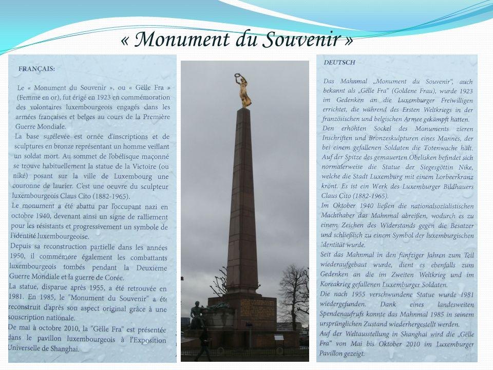 « Monument du Souvenir »