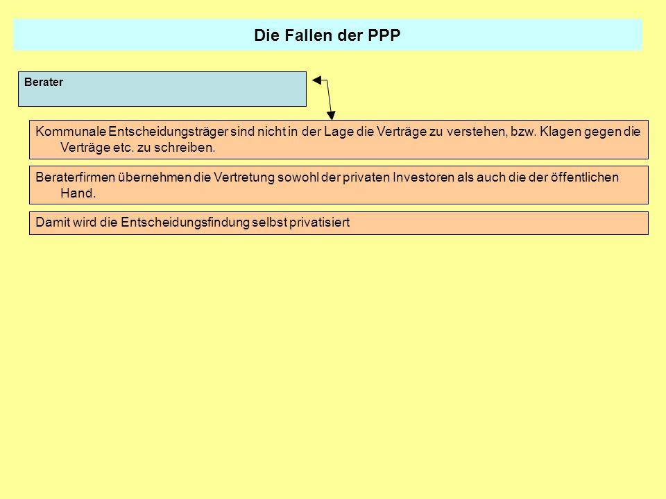 Die Fallen der PPPBerater.