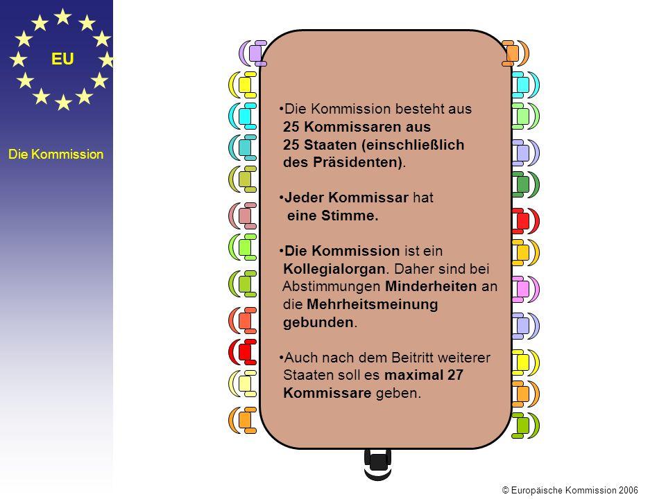 EU Die Kommission besteht aus 25 Kommissaren aus