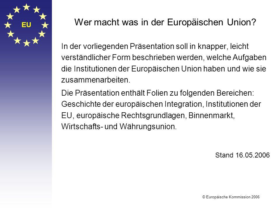 Wer macht was in der Europäischen Union