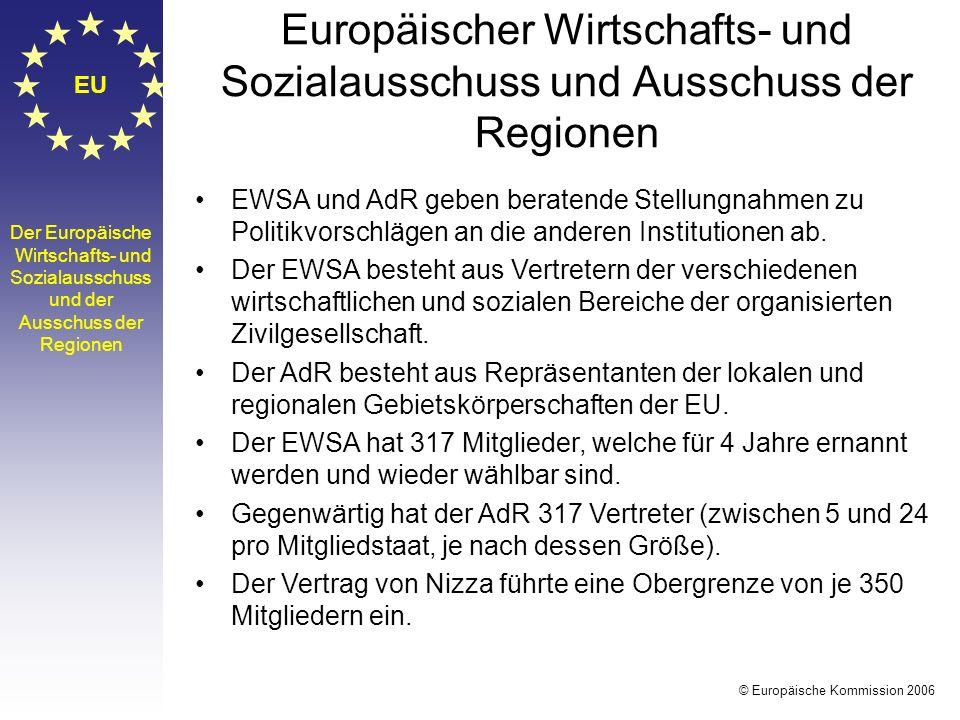 Europäischer Wirtschafts- und Sozialausschuss und Ausschuss der Regionen