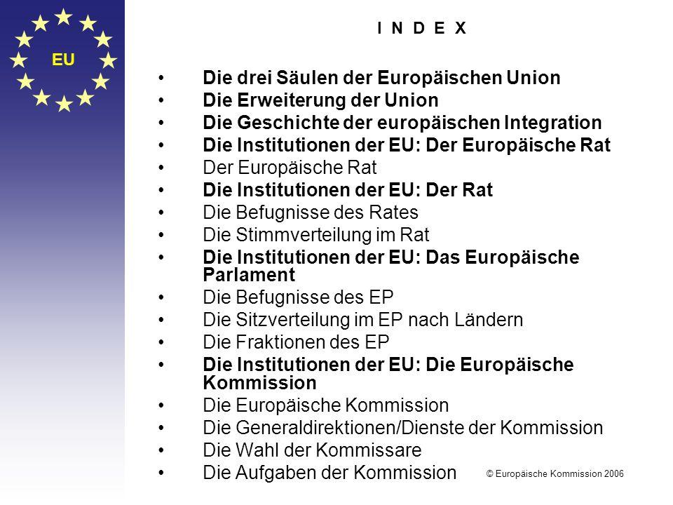 Die drei Säulen der Europäischen Union Die Erweiterung der Union