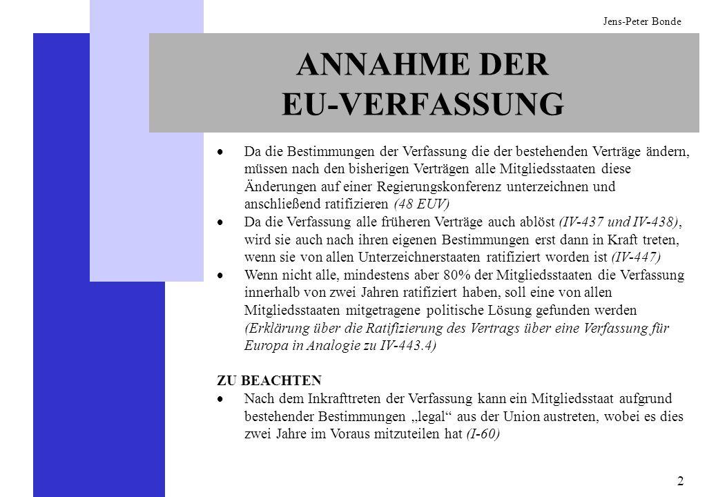 ANNAHME DER EU-VERFASSUNG